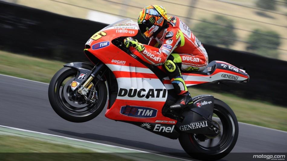 """Valentino Rossi """"Je suis content parce que ce test a été positif"""""""