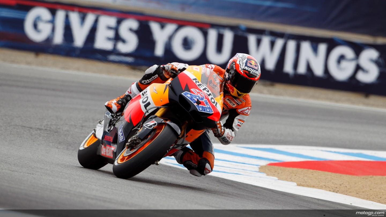 Casey Stoner Repsol Honda Team Laguna Seca FP1