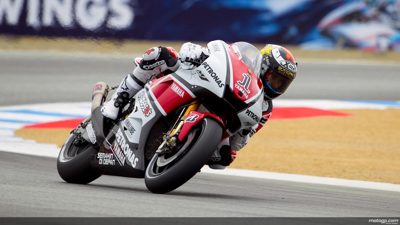Jorge Lorenzo Yamaha Factory Racing Laguna Seca FP2