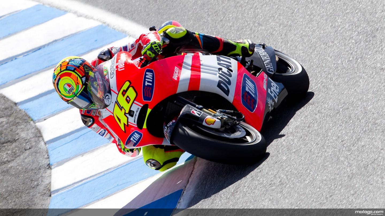 Valentino Rossi Ducati Team Laguna Seca FP2