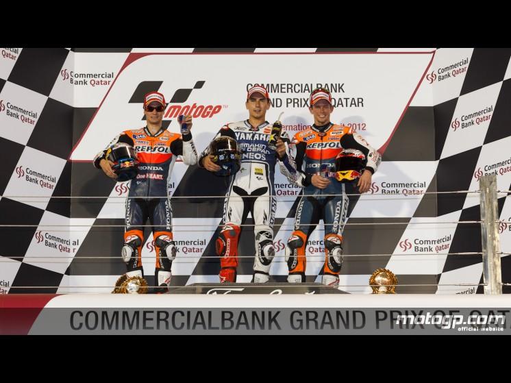 podium qatar2012